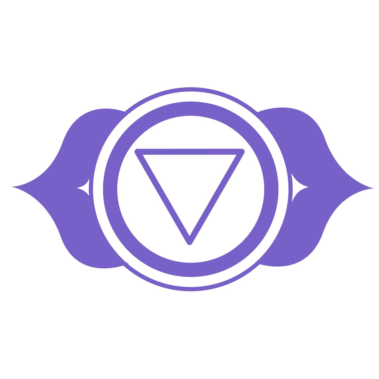 third eye chakra symbol -  chakra art