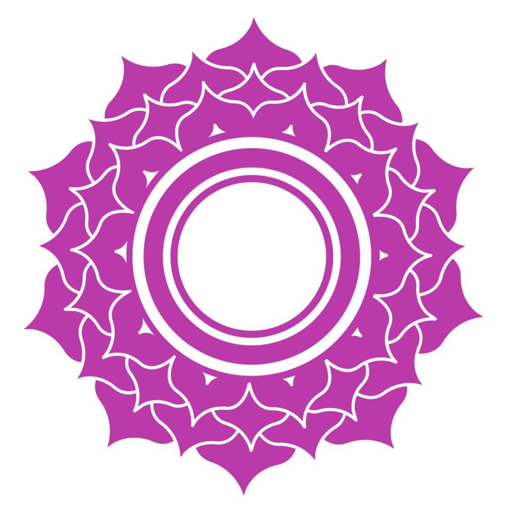 crown chakra affirmations - symbol