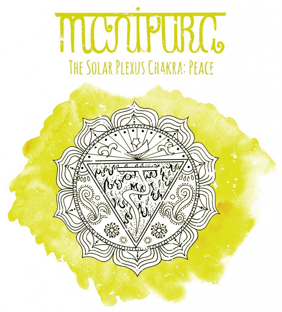 Solar plexus chakra symbol.