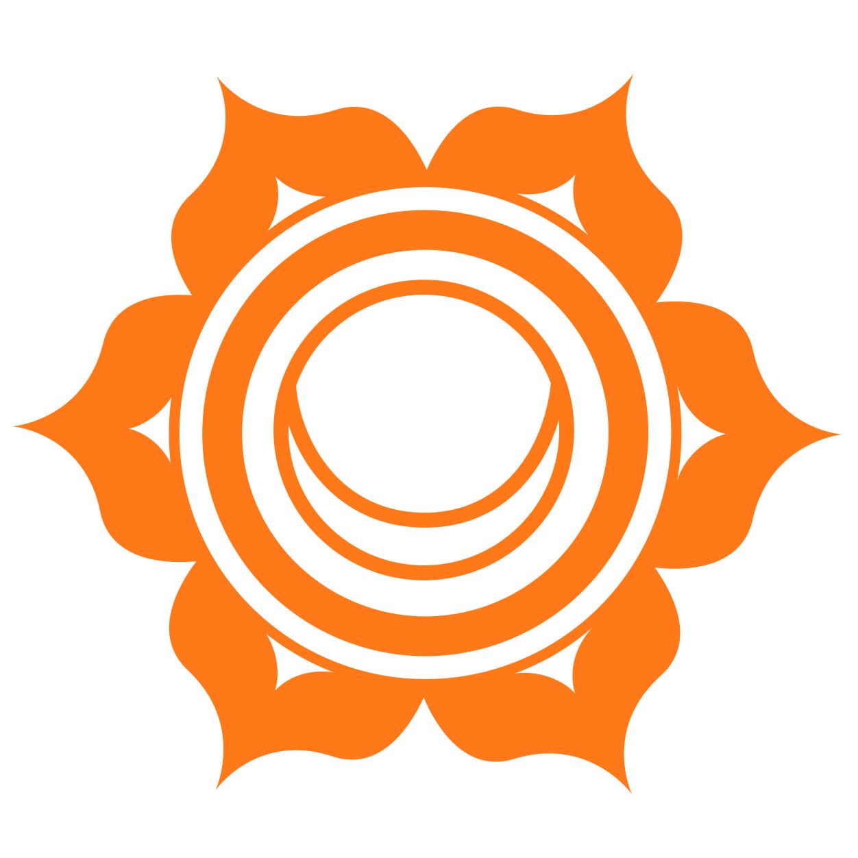 sacral chakra symbol -  chakra art