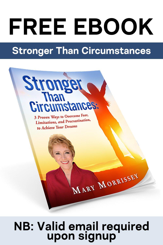 stronger than circumstances pinterest ad