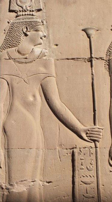 goddess isis karnak luxor egypt