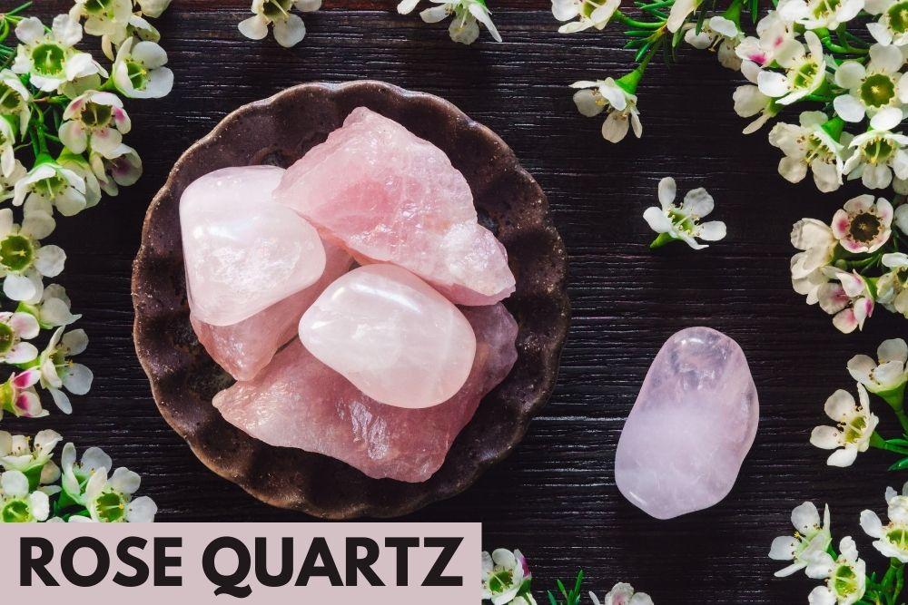 rose quartz crystal for heart chakra healing