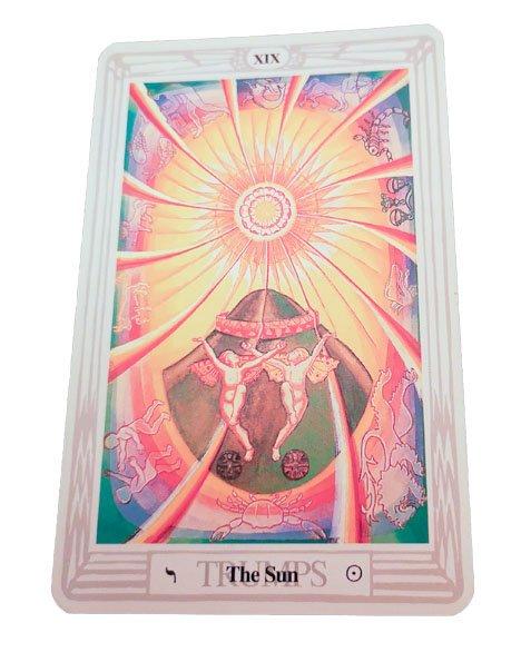 image symbolism thoth tarot the sun
